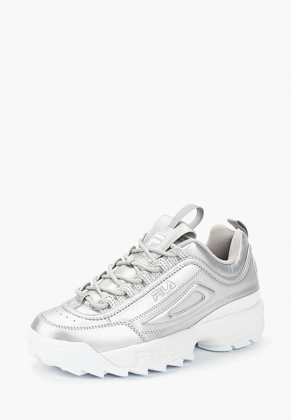 FILA   серебряный Женские серебряные кроссовки FILA искусственный материал   Clouty