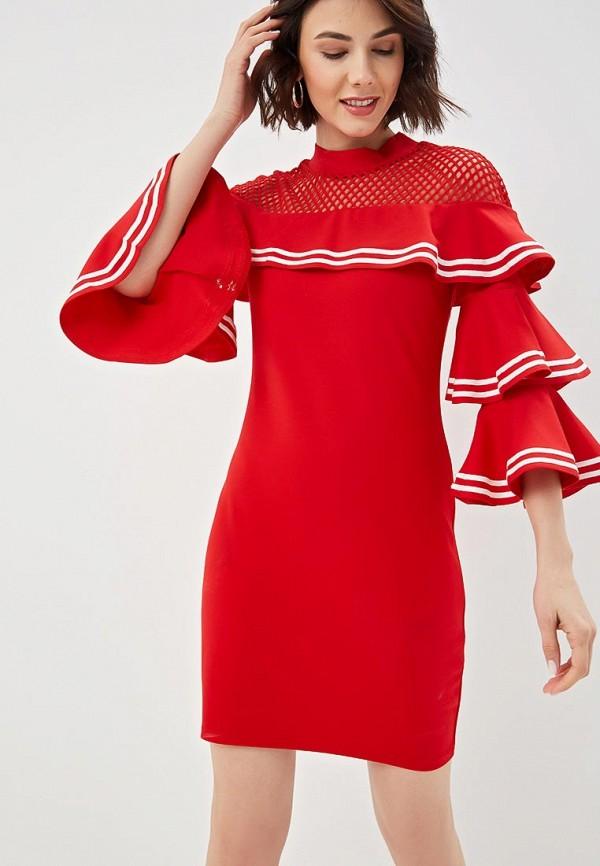 Fresh Cotton   красный Женское красное платье Fresh Cotton   Clouty