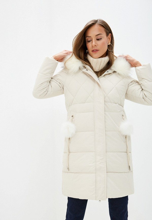 Fresh Cotton   белый Женская зимняя белая утепленная куртка Fresh Cotton   Clouty