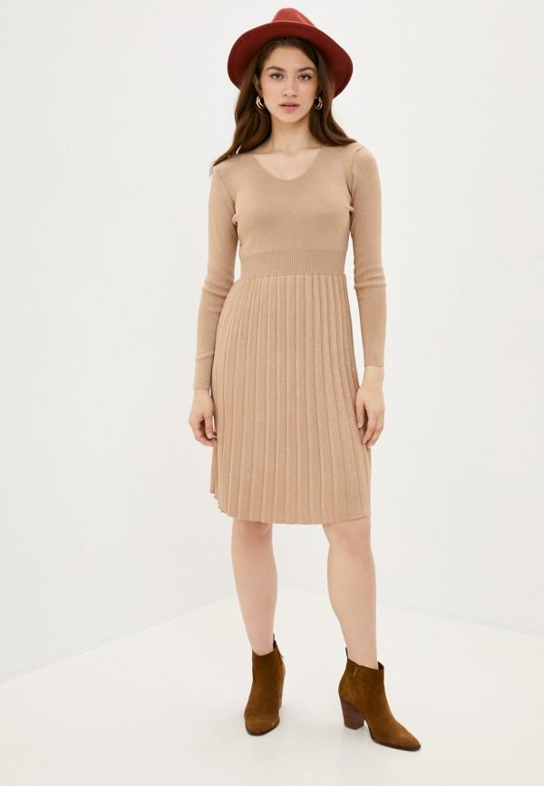 Fresh Cotton | бежевый Платье Fresh Cotton | Clouty