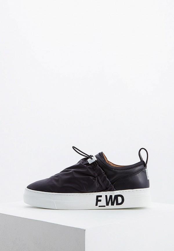 F_WD   черный Женские черные слипоны F_WD резина   Clouty