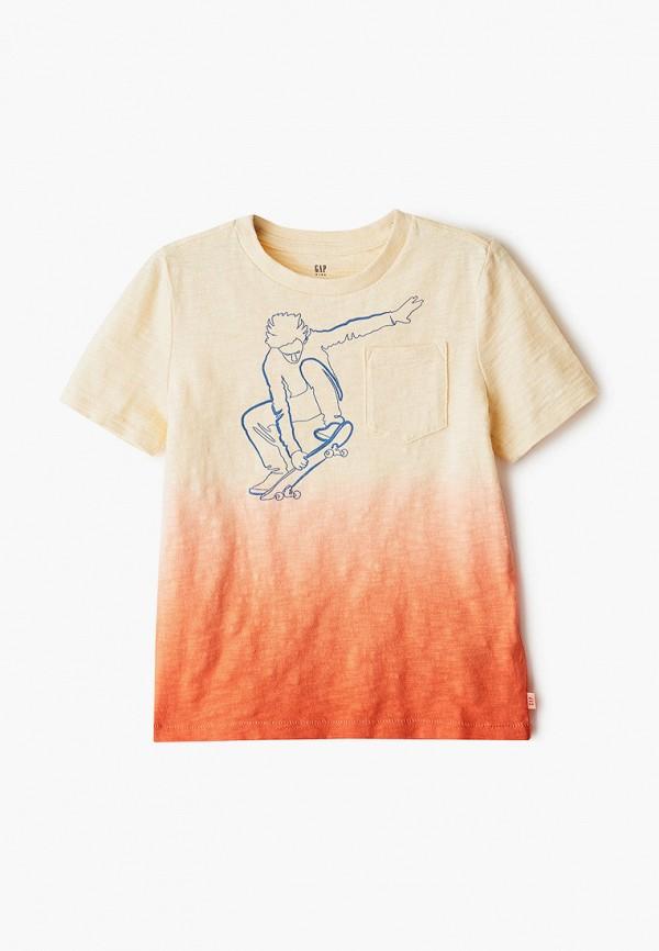 GAP   оранжевый Оранжевая футболка GAP для мальчиков   Clouty