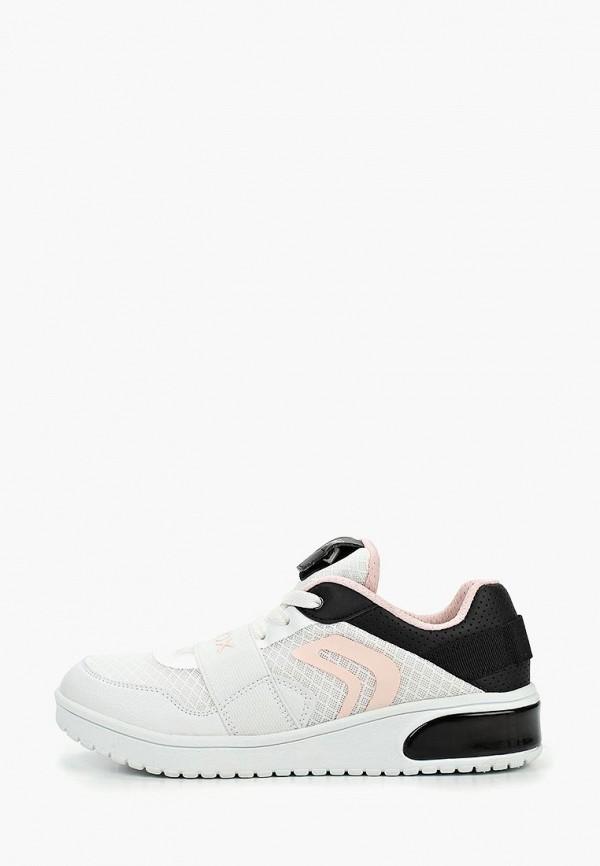 Geox | белый Белые кроссовки Geox полимер для девочек | Clouty