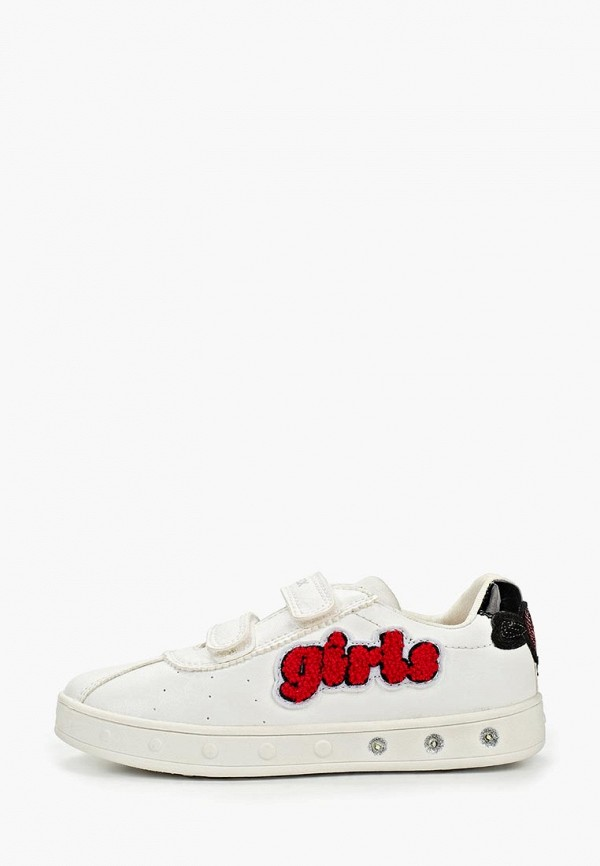 Geox | белый Белые кеды Geox резина для девочек | Clouty