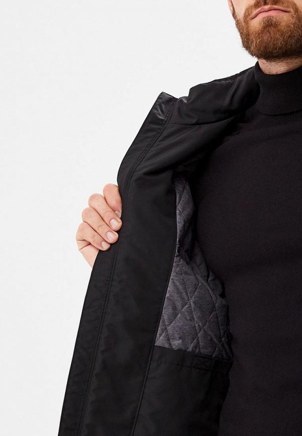 Geox | черный Мужская черная утепленная куртка Geox | Clouty