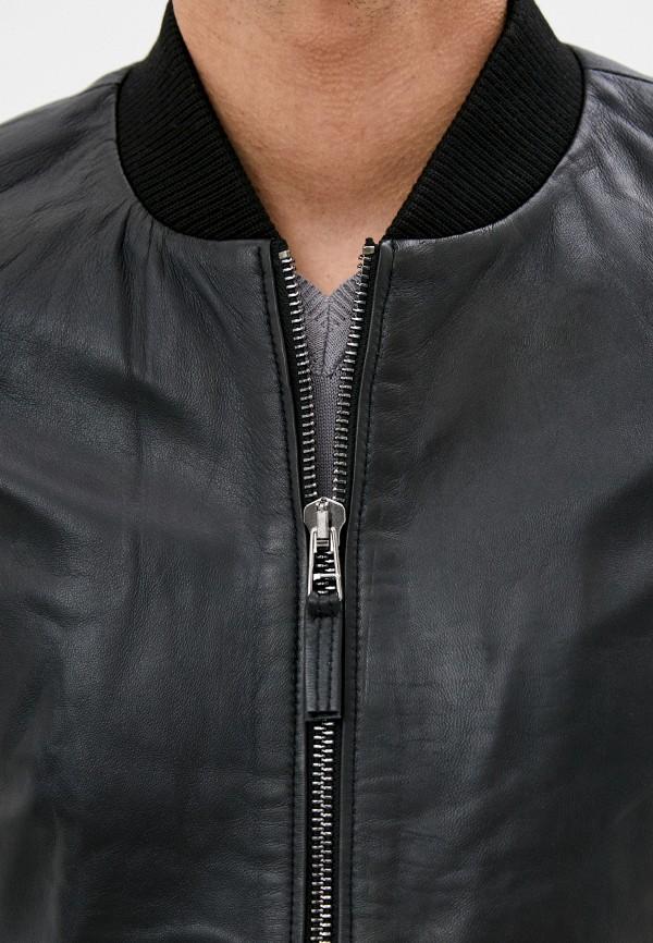 Giorgio Di Mare   синий Мужская зимняя синяя кожаная куртка Giorgio Di Mare   Clouty