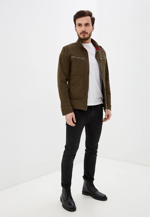 Giorgio Di Mare | хаки Мужская куртка Giorgio Di Mare | Clouty