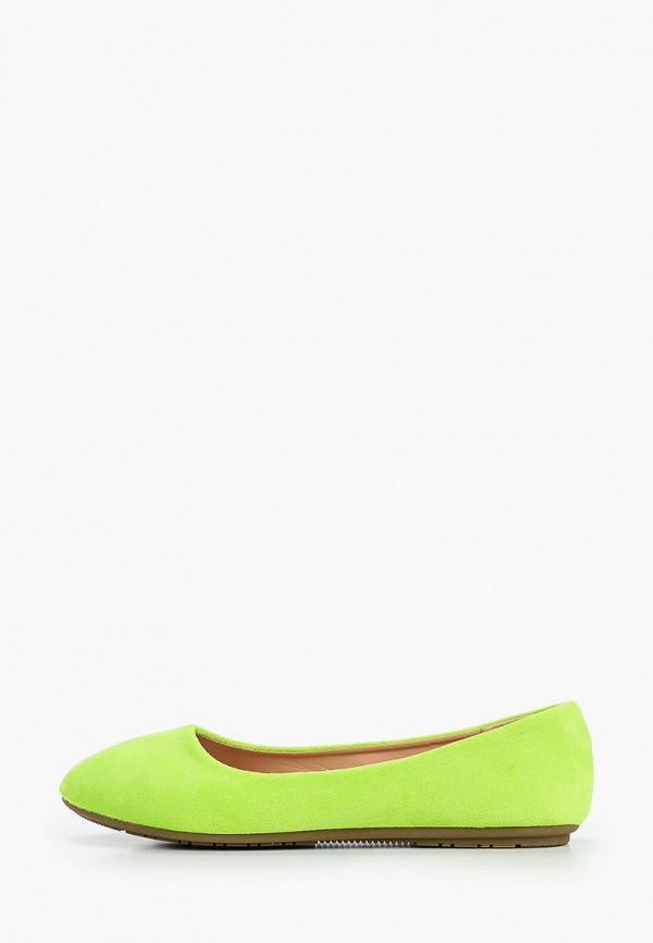 Go-Go | зеленый Женские зеленые балетки Go-Go искусственный материал | Clouty