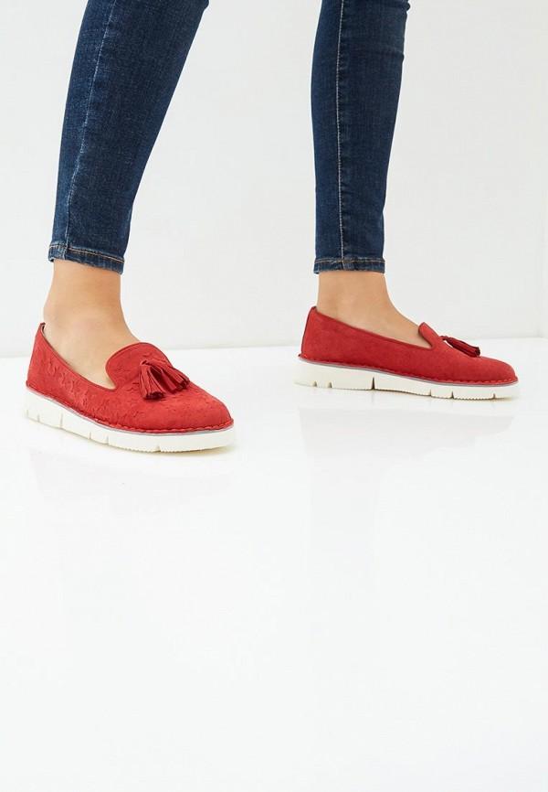 Grand Style | красный Женские красные лоферы Grand Style искусственный материал | Clouty