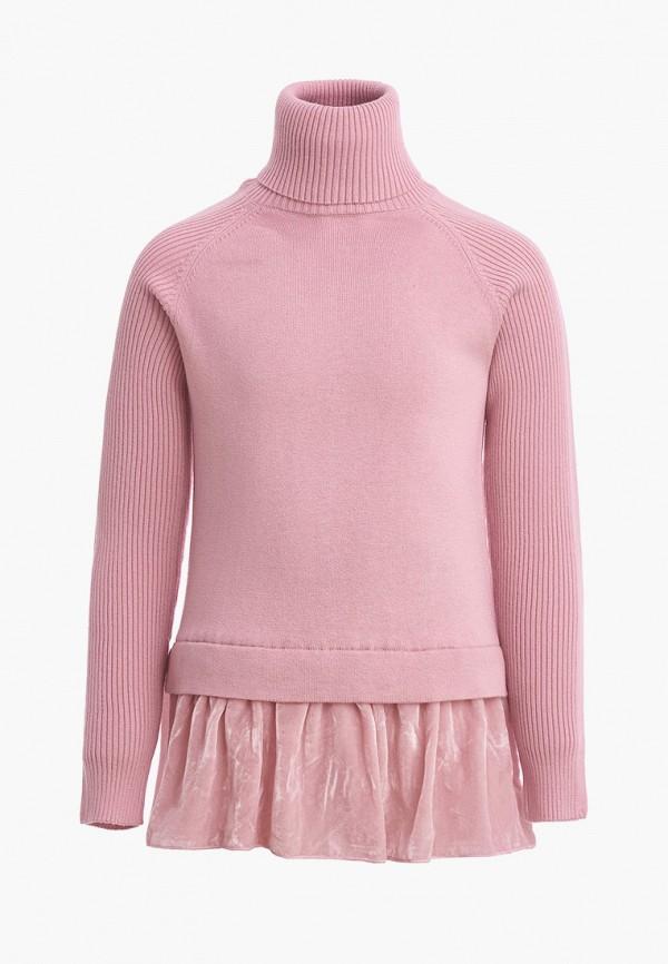 Gulliver   розовый Розовая водолазка Gulliver для девочек   Clouty
