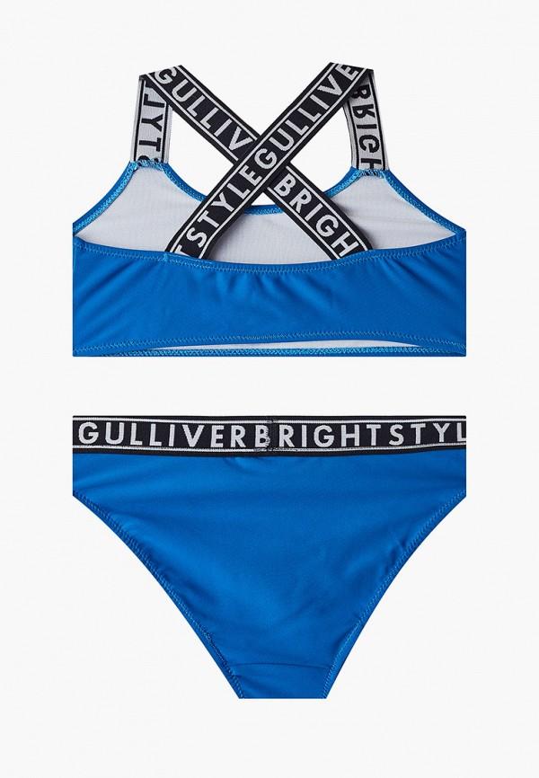 Gulliver | Летний синий купальник Gulliver для девочек | Clouty