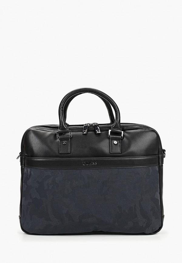Guess | черный Мужская черная сумка Guess | Clouty