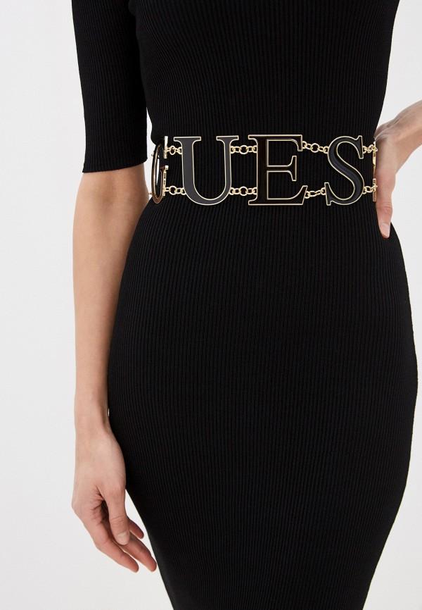 Guess | Женский черный пояс Guess | Clouty
