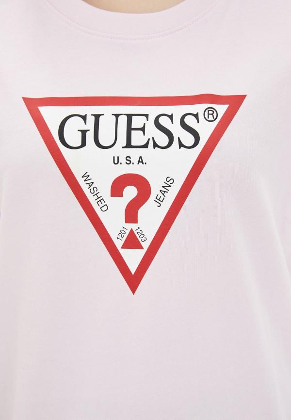Guess Jeans   розовый Футболка Guess Jeans   Clouty