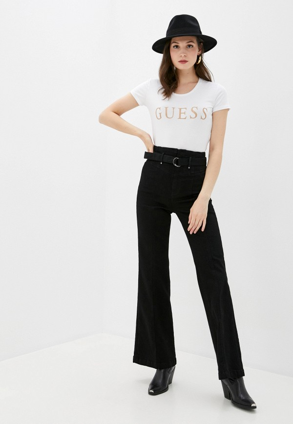 Guess Jeans | белый Футболка Guess Jeans | Clouty
