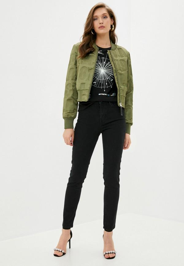 Guess Jeans | черный Футболка Guess Jeans | Clouty