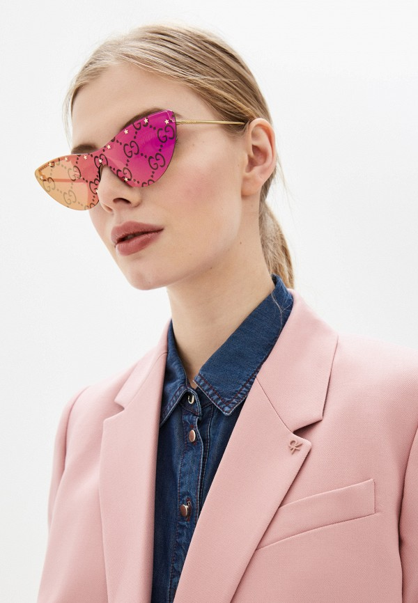 GUCCI | золотой Женские летние золотые солнцезащитные очки GUCCI | Clouty