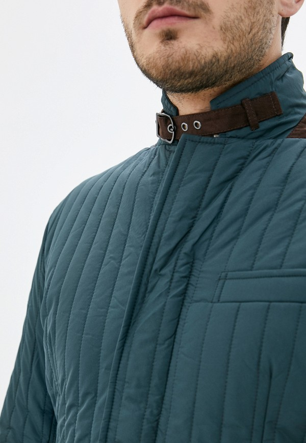 Hackett London | зеленый Мужская зеленая утепленная куртка Hackett London | Clouty