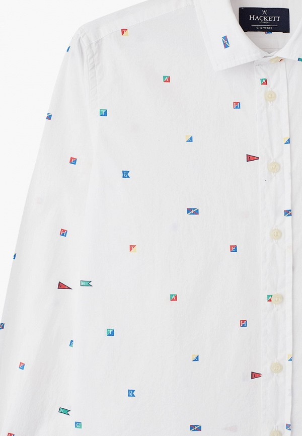 Hackett London   белый Белая рубашка Hackett London для мальчиков   Clouty