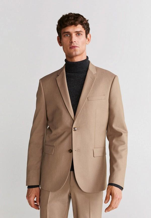 Mango Man | Мужской бежевый пиджак Mango Man | Clouty