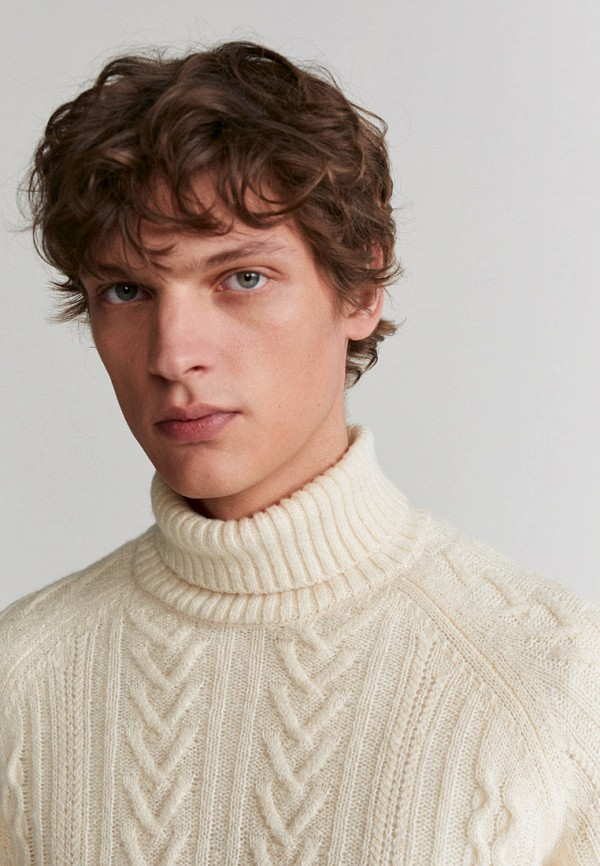 Mango Man | Мужской белый свитер Mango Man | Clouty