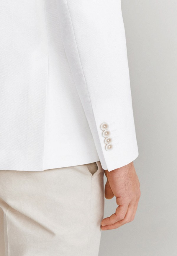 Mango Man | Мужской белый пиджак Mango Man | Clouty