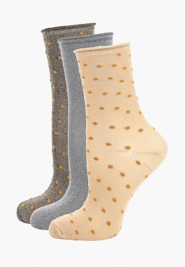 Ichi   бежевый, коричневый, серый Женские носки Ichi   Clouty
