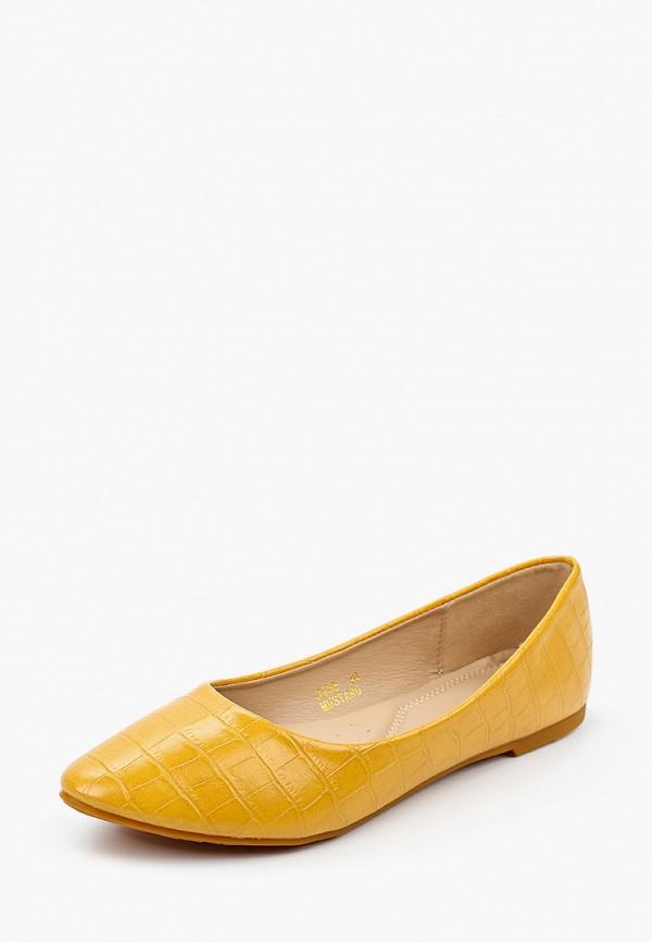 Ideal Shoes | желтый Женские желтые балетки Ideal Shoes искусственный материал | Clouty