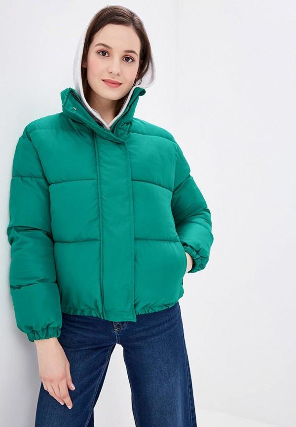 Imocean | зеленый Женская зеленая утепленная куртка Imocean | Clouty
