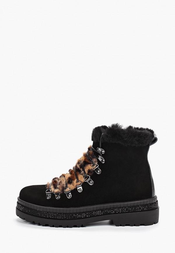 Inuovo   черный Женские зимние черные ботинки Inuovo резина   Clouty