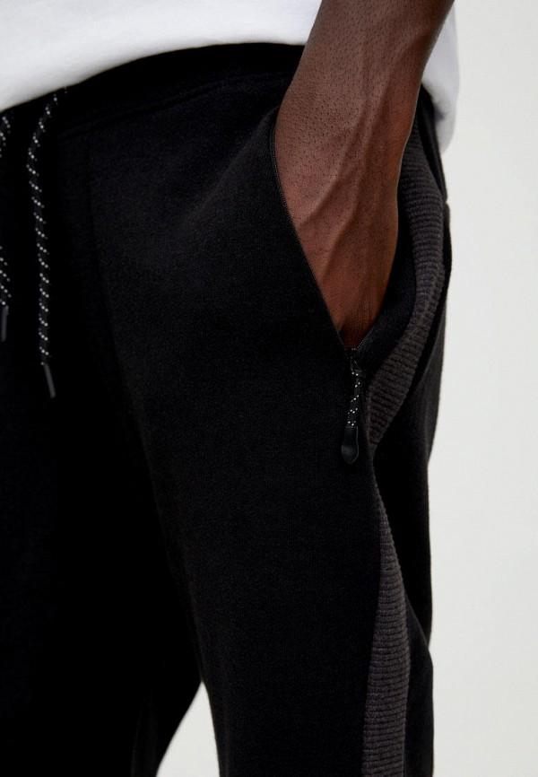 Pull & Bear | черный Мужские черные шорты Pull & Bear | Clouty