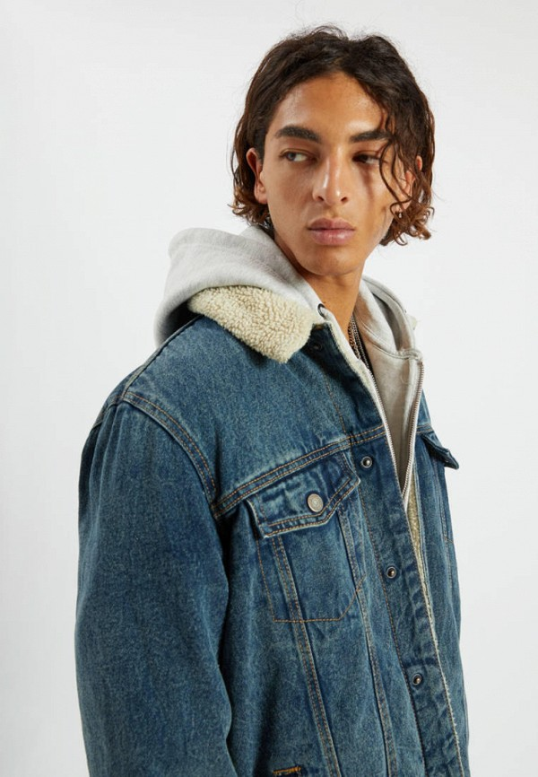 Pull & Bear   синий Куртка джинсовая Pull&Bear   Clouty