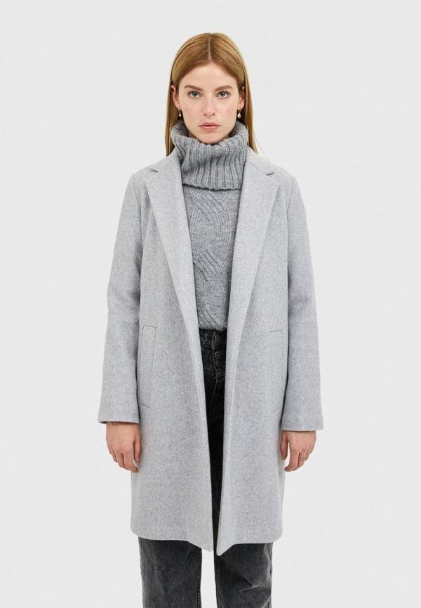 Stradivarius   серый Женское серое пальто Stradivarius   Clouty