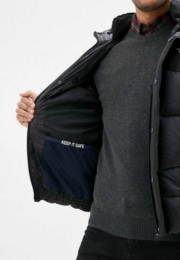 Jack & Jones | черный Мужская зимняя черная утепленная куртка Jack & Jones | Clouty