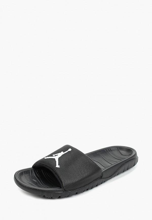 Jordan | черный Летние черные сланцы Jordan ПВХ для младенцев | Clouty