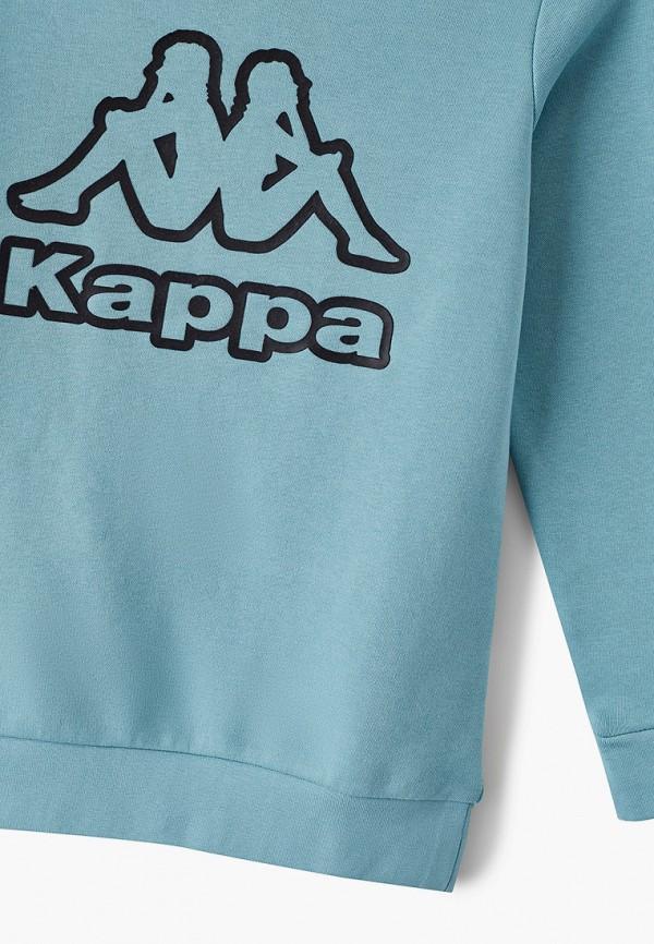 Kappa | Бирюзовый свитшот Kappa для девочек | Clouty