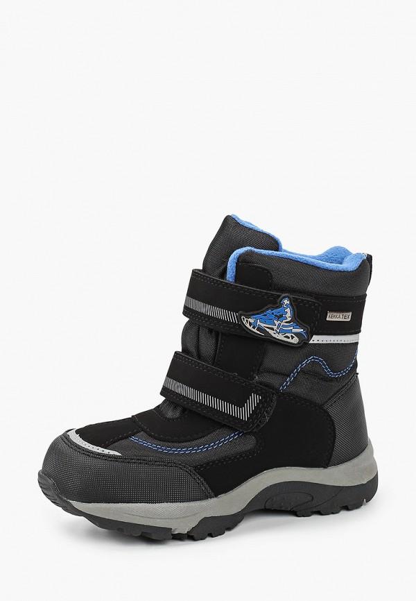 Kenka | черный Зимние черные ботинки Kenka термопластиковая резина для мальчиков | Clouty