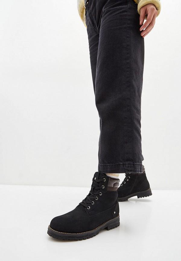 Keddo | черный Женские черные ботинки Keddo искусственный материал | Clouty