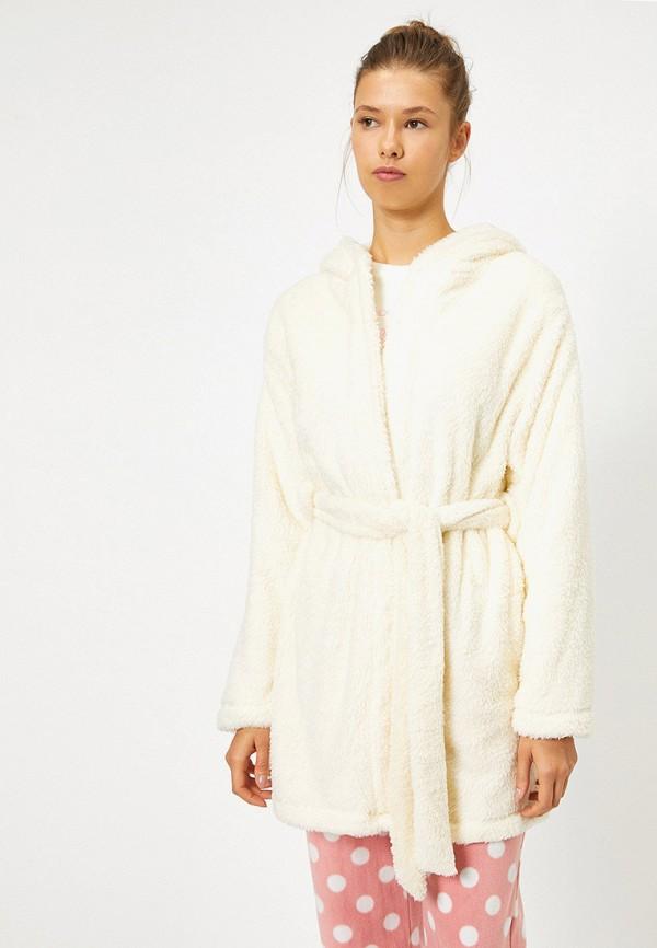 Koton | Женский белый домашний халат Koton | Clouty