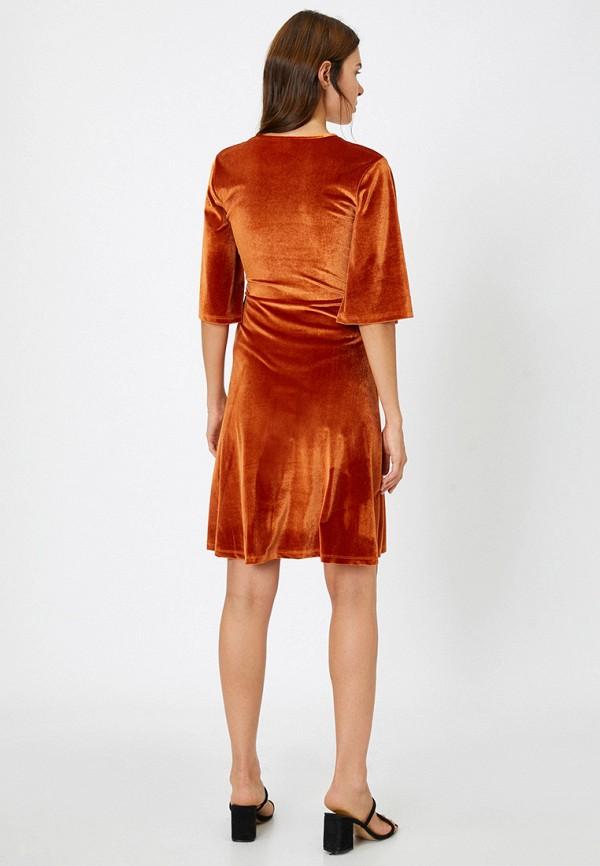 Koton | коричневый Коричневое платье Koton | Clouty