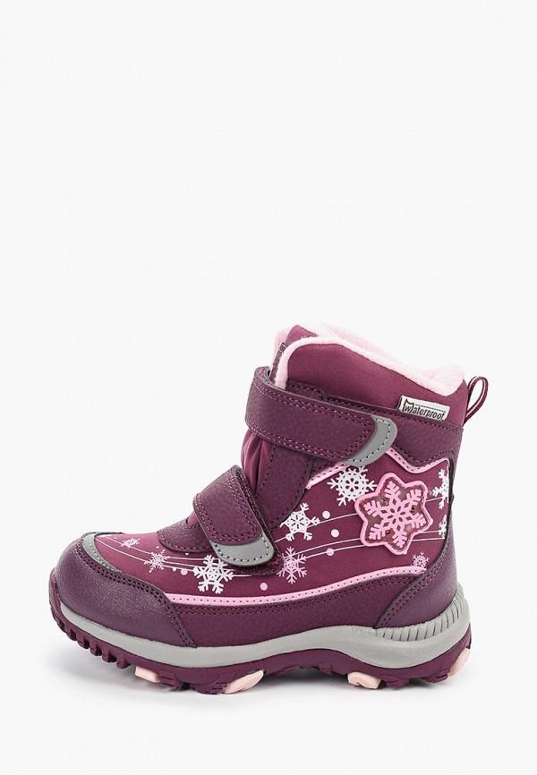 Котофей | фиолетовый Зимние фиолетовые ботинки Котофей искусственный материал для девочек | Clouty