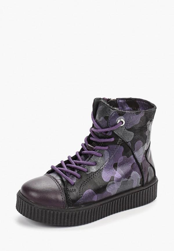 Котофей | фиолетовый Зимние фиолетовые кеды Котофей искусственный материал для девочек | Clouty