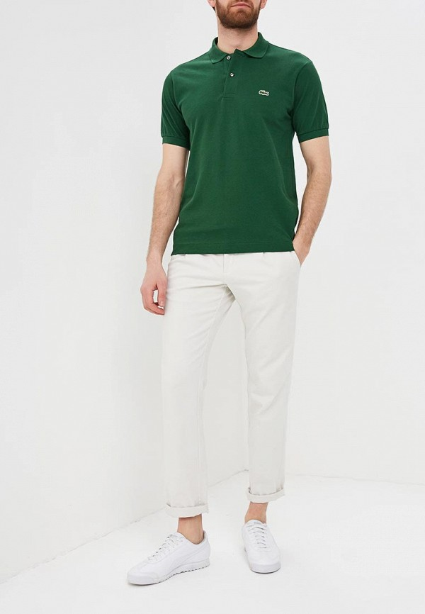 Lacoste   зеленый Мужское зеленое поло Lacoste   Clouty