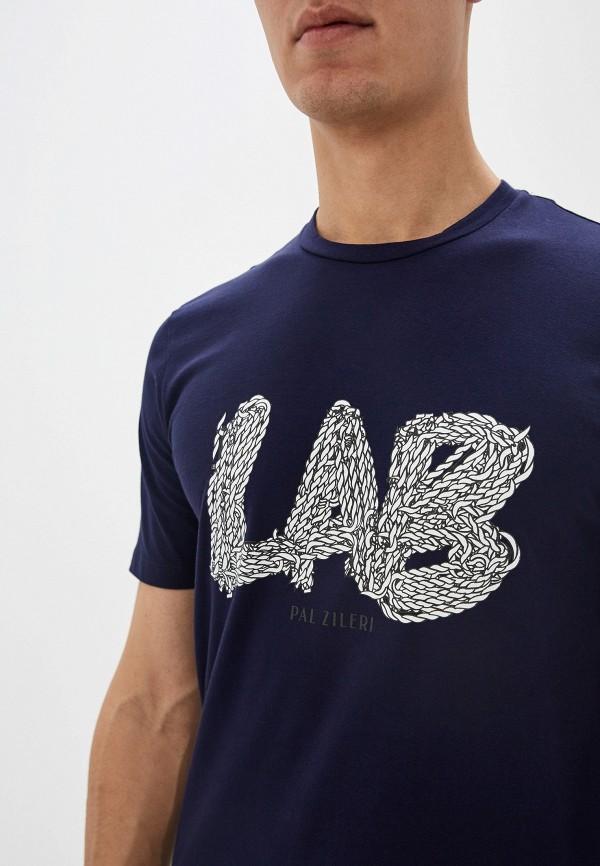 Pal Zileri | синий Мужская синяя футболка Pal Zileri | Clouty