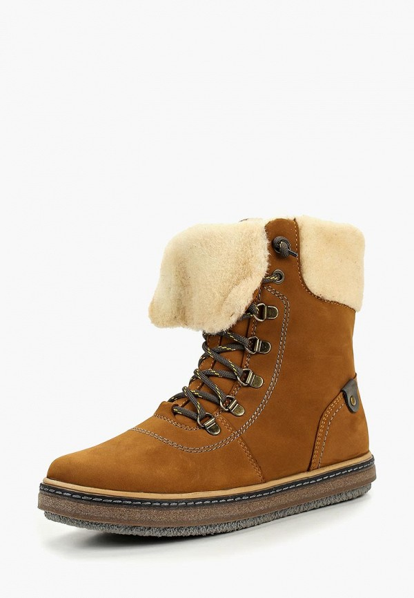 Лель | коричневый Зимние коричневые ботинки Лель термоэластопласт для девочек | Clouty