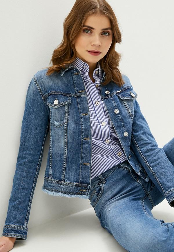 Liu•Jo   синий Женская синяя джинсовая куртка Liu•Jo   Clouty