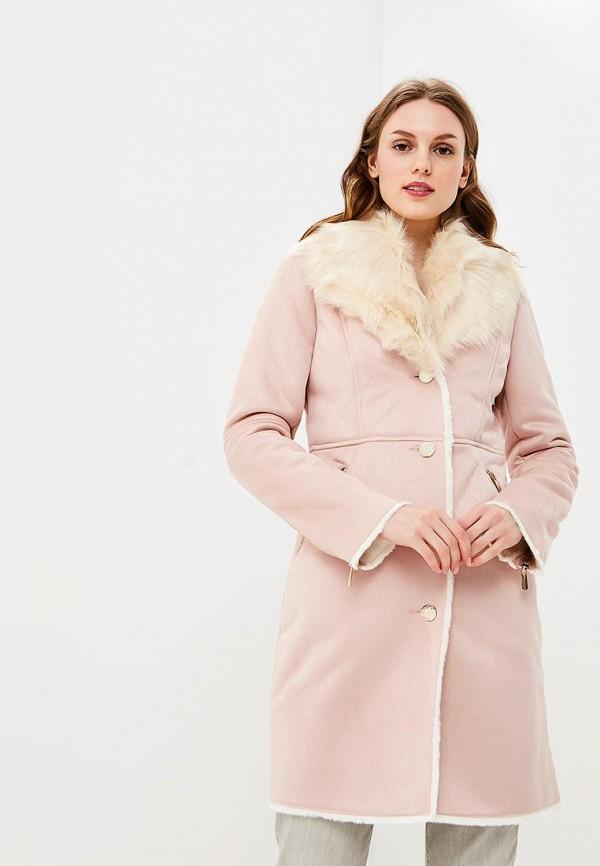 LOVE REPUBLIC | розовый Женская зимняя розовая дубленка LOVE REPUBLIC | Clouty
