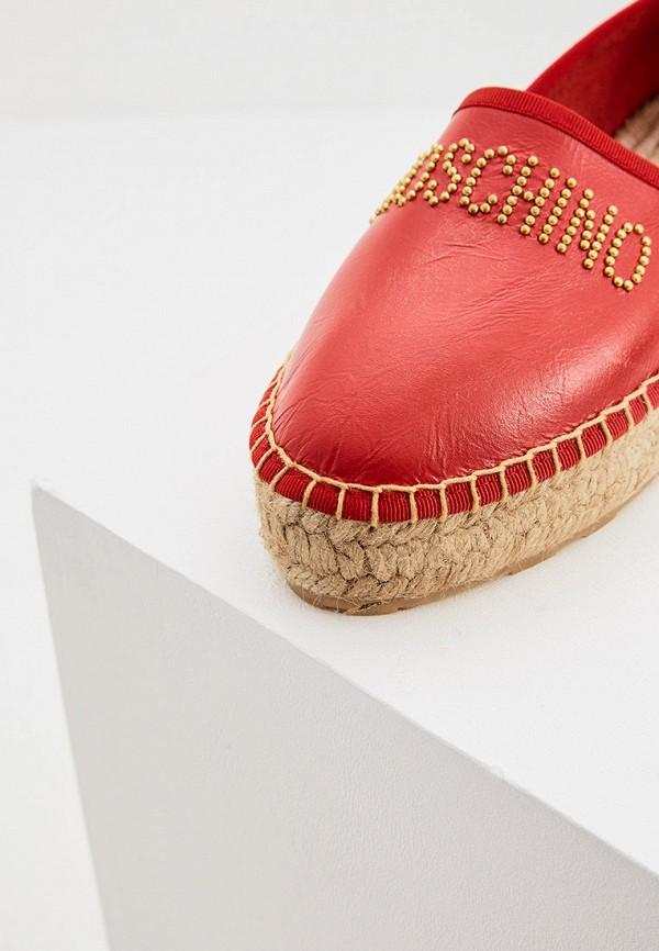 Love Moschino   красный Женские летние красные эспадрильи Love Moschino искусственный материал   Clouty