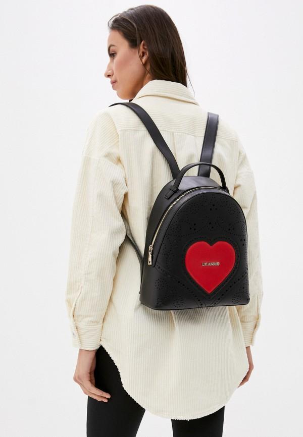 Love Moschino | Женский черный рюкзак Love Moschino | Clouty