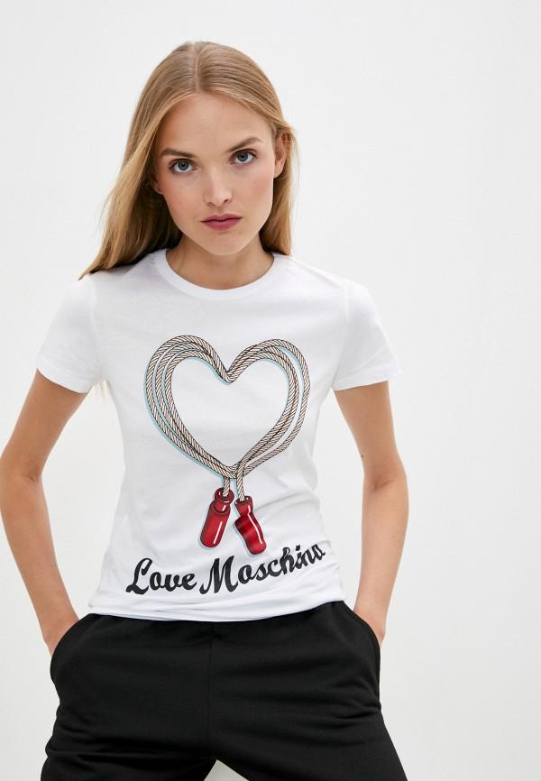 Love Moschino | белый Футболка Love Moschino | Clouty